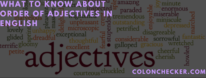 order of adjectives in english language